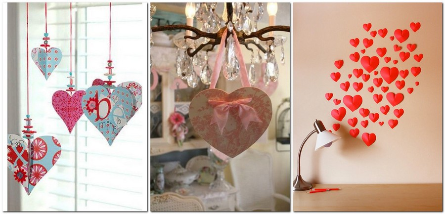 11-how-to-decorate-room-for-Valentine's-Day-decor-ideas-hearts-valentines-on-chandelier-wall-decor