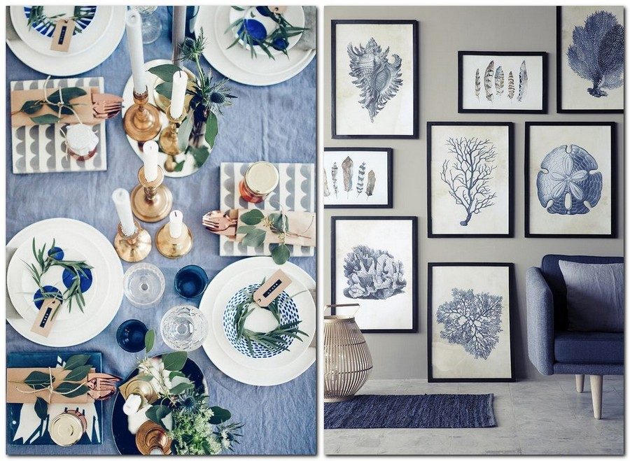 11-top-colors-2017-Pantone-lapis-blue-in-interior-design-dining-room-table-setting-napkins-tablecloth-wall-art-pictures-sofa
