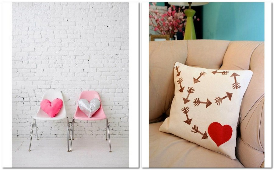 13-how-to-decorate-room-for-Valentine's-Day-decor-ideas-hand-made-decorative-pillows-hearts-heart-shaped
