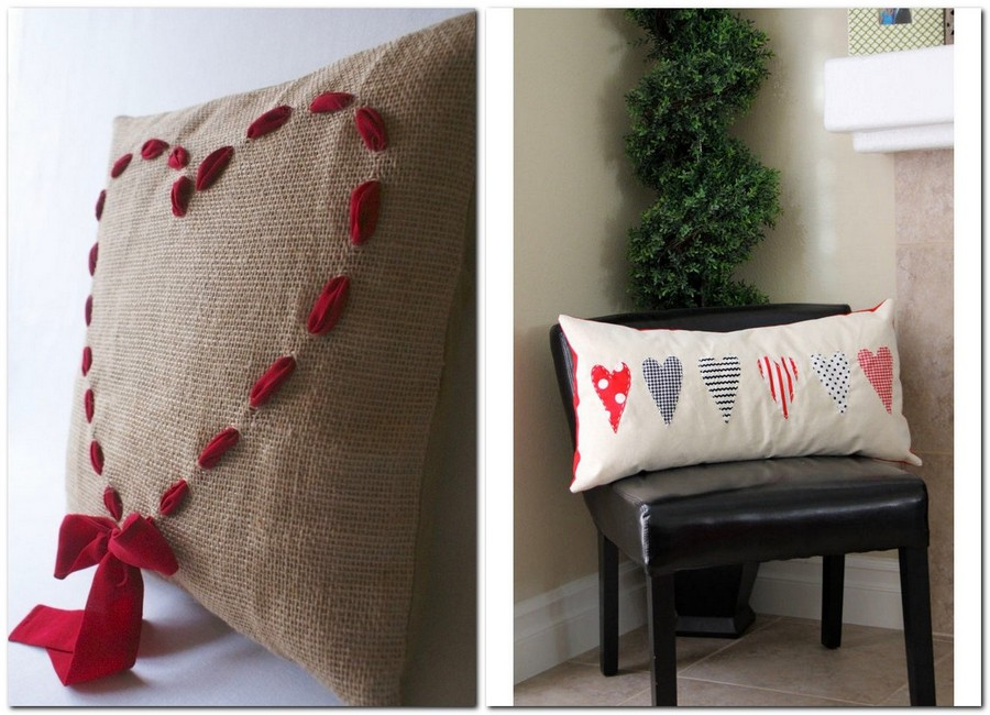 14-how-to-decorate-room-for-Valentine's-Day-decor-ideas-hand-made-decorative-pillows-hearts
