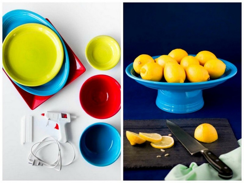2-1-DIY-handmade-fruit-bowl-mini-dessert-cake-stand-from-old-cups-and-bowls-dishes-blue