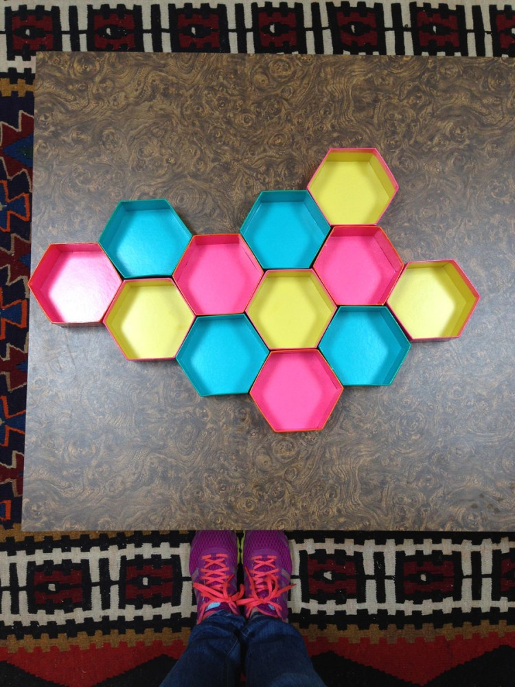 2-DIY-bright-multicolored-handmade-hexagonal-honeycomb-shelving-unit-decorative-shelves-wall-decor-with-mirrored-tiles