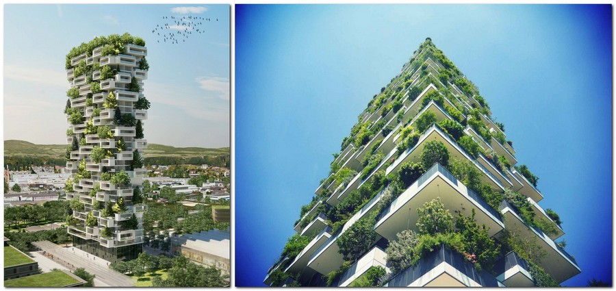 Apartment bathroom design ideas - Two More Vertical Forest Buildings Projected For China