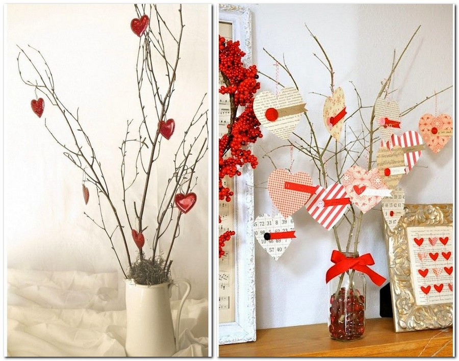 40 ideas of home d cor for valentine s day home interior for Home decorations for valentine s day