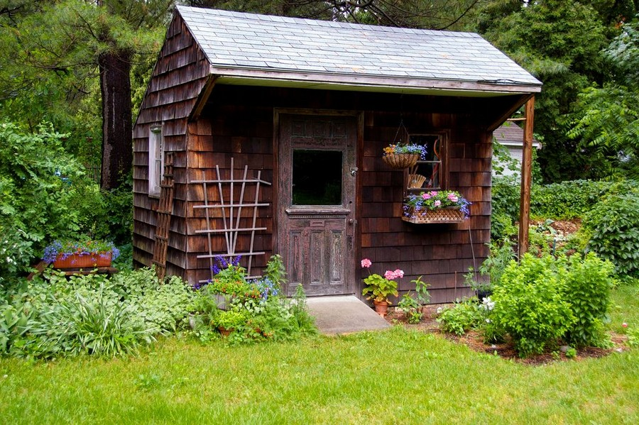 2-old-garden-timber-shed-beautiful-landscape-flowers