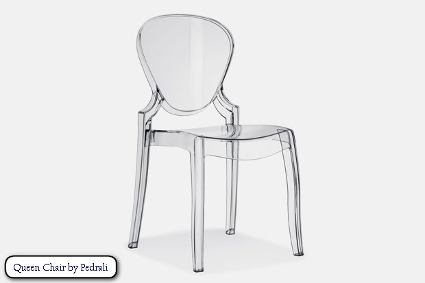 2 Transparent Solid Plastic Chair Queen By Pedrali