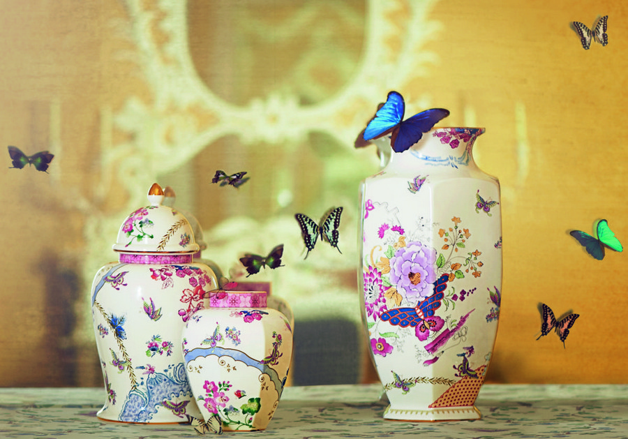 3-Butterfly-Bloom-English-porcelain-china-tea-set-spring-flowers-butterflies-jugs