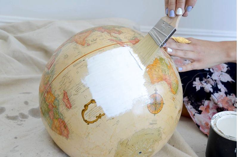 3-DIY-handmade-vintage-white-painted-globe