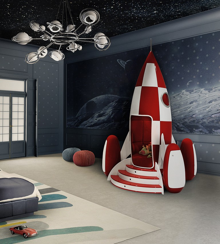 3-circu-Portugal-dream-fantastic-kids-furniture-design-rocky-rocket-shaped-arm-chair-red-and-white-velvet-upholstery