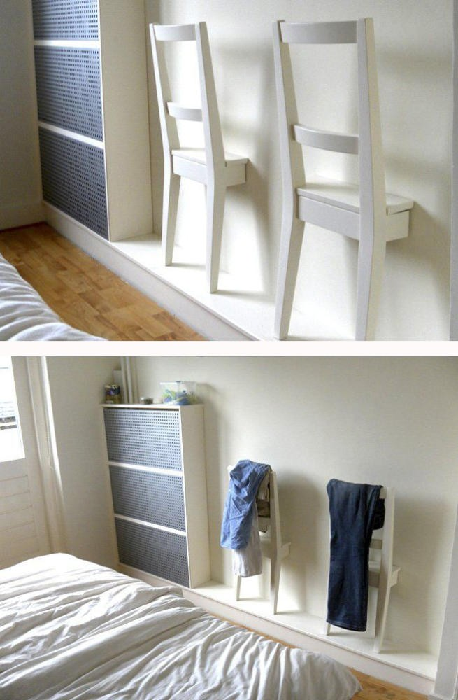 3-interesting-original-wall-decor-ideas-handmade-clothes-rack-in-bedroom