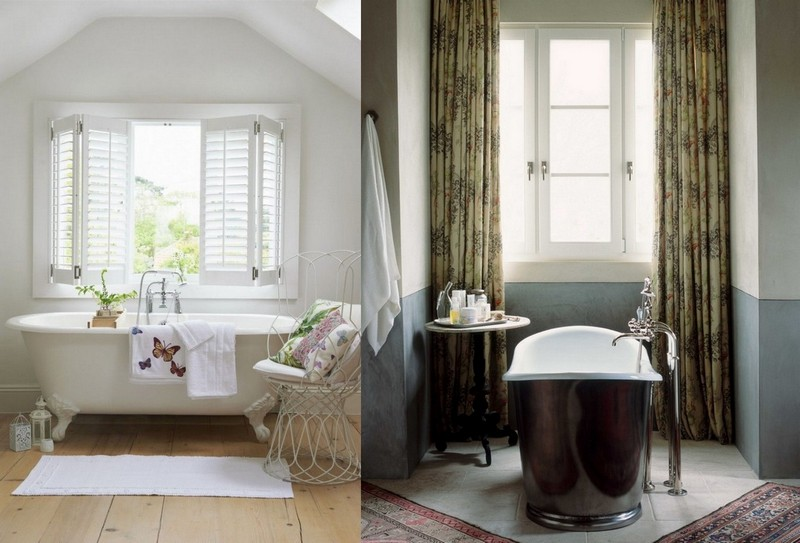 4-Provence-style-bathroom-interior-design-vintage-retro-bathtub-decor-pastel-colors-furniture-clawfoor-bath-big-window-curtains-coffee-table-metal-chair