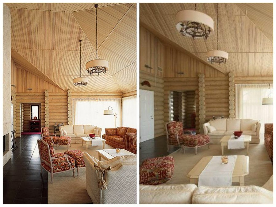 4-Provence-style-living-room-restroom-bathhouse-with-sofas-arm-chairs-fireplace-timber-wood-house-walls