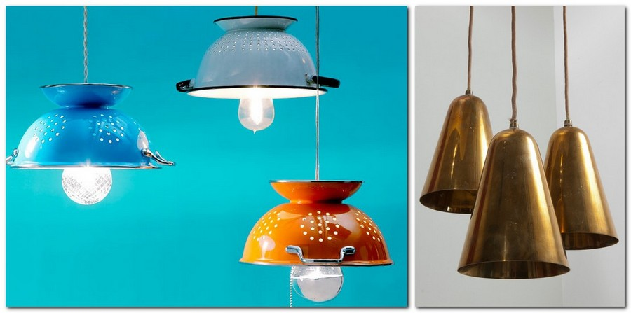 4-creative-lamp-ideas-DIY-handmade-IKEA-colanders-multicolored-metal-funnels-industrial-style