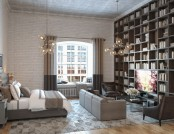 Loft Studio Apartment with Mezzanine & Gorgeous Library