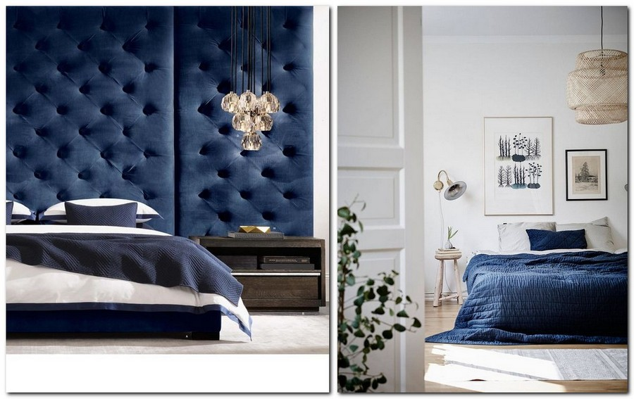 4-top-colors-2017-Pantone-lapis-blue-in-interior-design-bedroom-bedspread-upholstered-headboard-capitone-bed