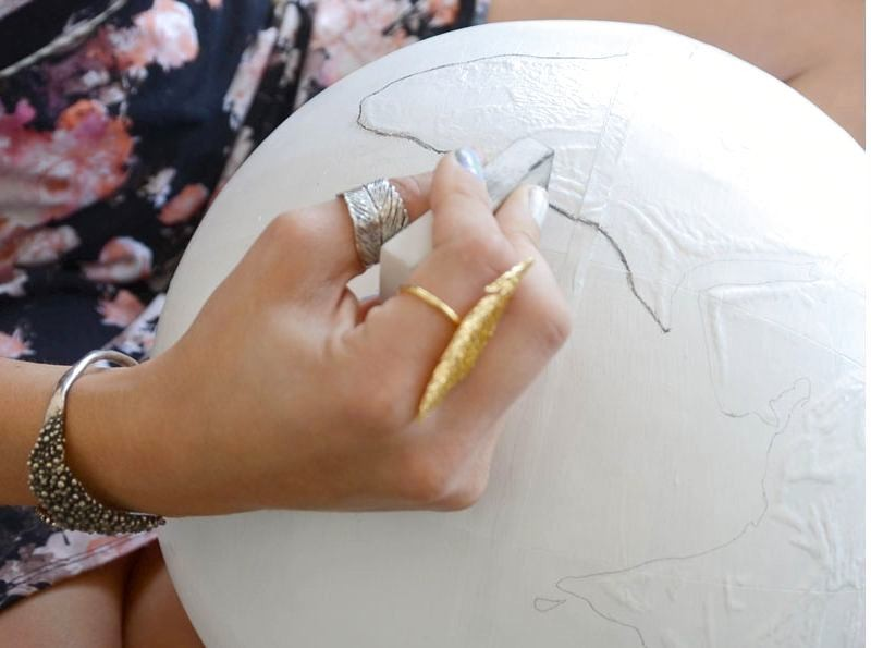 5-DIY-handmade-vintage-white-painted-globe