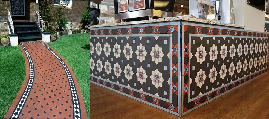 5-Mettlach-tiles-in-exterior-design-garden-path-interior-bar-countertop