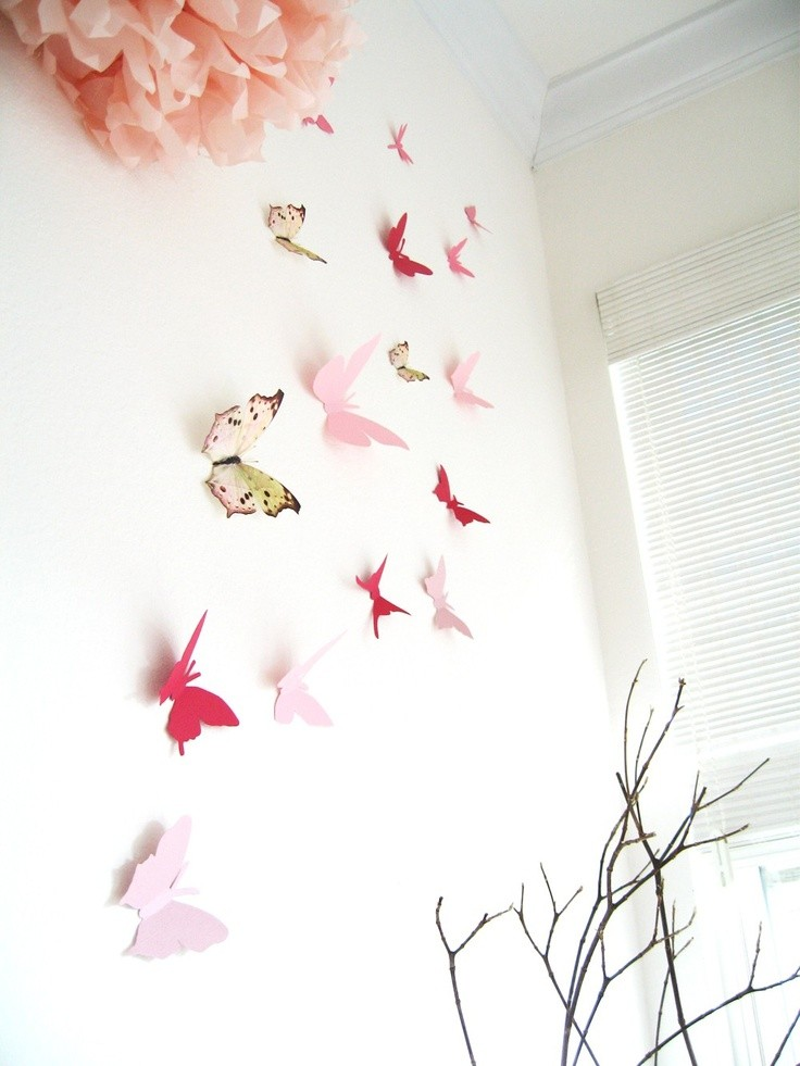 5-butterfly-wall-art-decor-ideas-pink-multicolor