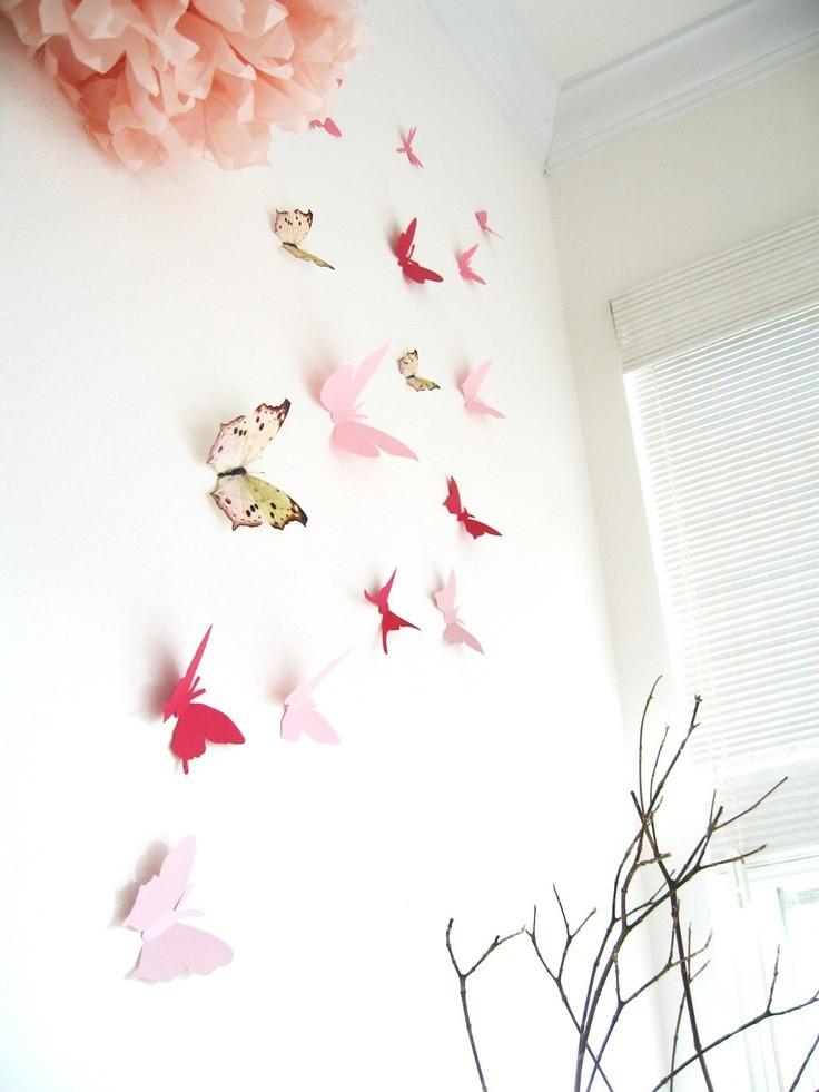5-butterfly-wall-art-decor-ideas-pink-multicolor