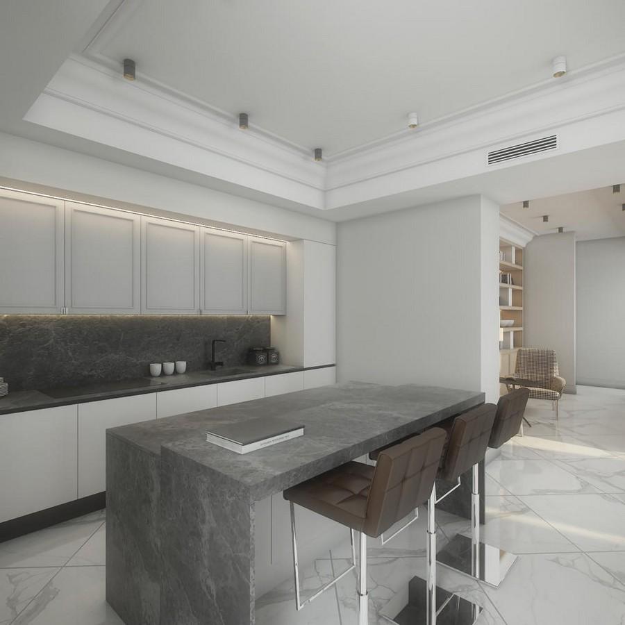 Kitchen Set Minimalist: Gorgeous Contemporary Villa In Montenegro (Part 1)