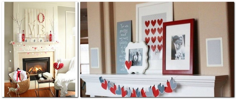 6-how-to-decorate-room-for-Valentine's-Day-decor-ideas-fireplace-mantel-photos-hearts-garlands