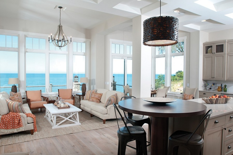 Kitchens With Islands Of The View From Living Room