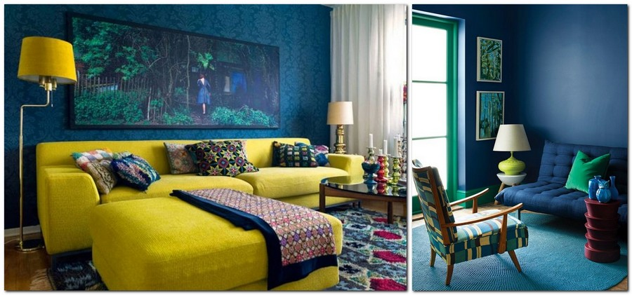 6-top-colors-2017-Pantone-lapis-blue-in-interior-design-living-room-walls-green-lamp-multicolor-arm-chair-bright-yellow-sofa-floor-lamp