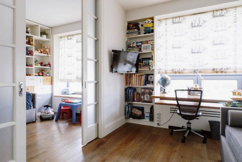7-3-minimalist-style-white-walls-and-gray-apartment-interior-design-toddler-kids'-bedrooms-rooms-sliding-doors-desk-windowsill