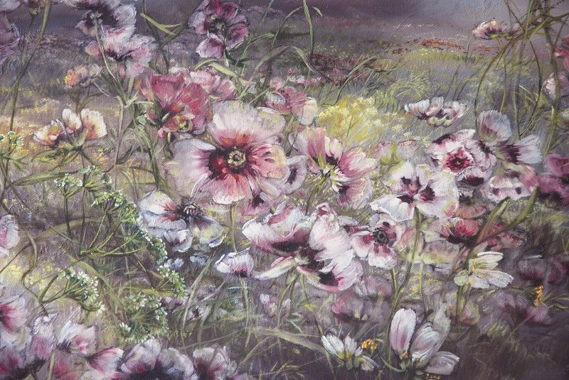Most Beautiful Contemporary Flower Paintings By Claire