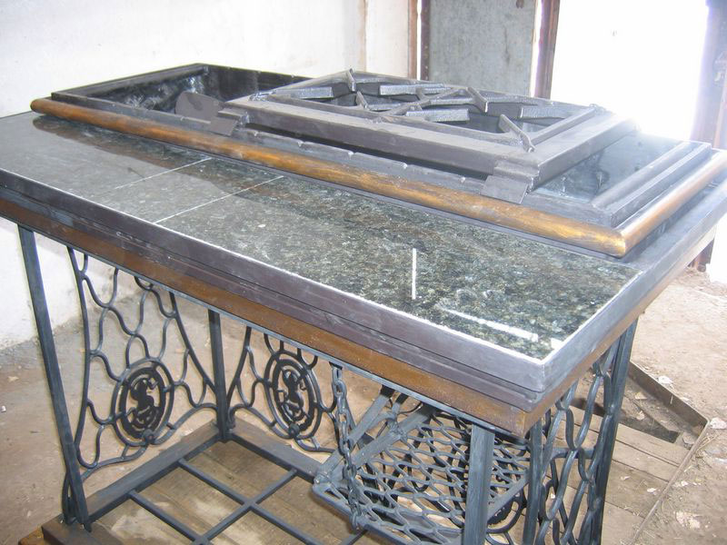 7-handmade-welded-fire-pit-grill-brazier-garden-from-old-vintage-treadle-sewing-machine-Singer-re-use-make-ideas-granite-countertop-worktop-metal