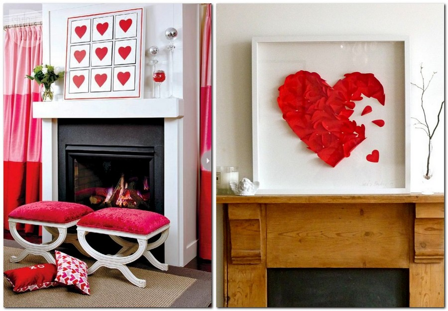 7-how-to-decorate-room-for-Valentine's-Day-decor-ideas-fireplace-mantel-heart-paper-composition