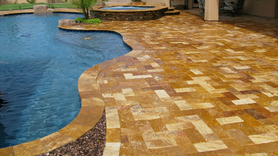 7-travertine-patio-swimming-pool-terrace-paving-tiles-multicolored-beige-and-brown