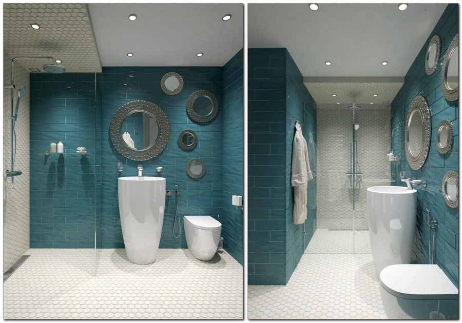 7-white-and-turquoise-brick-tiles-mosaic-bathroom-interior-design-round-mirrors-of-various-sizes-glass-shower-cabin