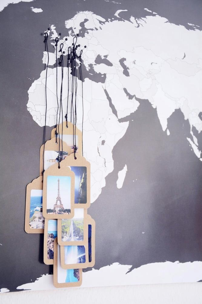 8-1-interesting-original-wall-decor-ideas-pins-world-map-travel-memories-photos