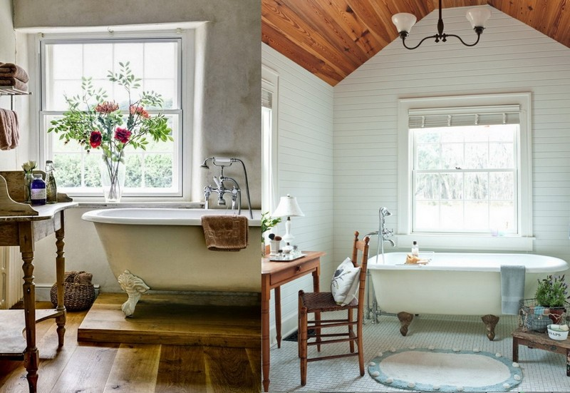 8-Provence-style-bathroom-interior-design-vintage-retro-bathtub-decor-pastel-colors-furniture-clawfoot-bath-dressing-table-flowers-sloped-ceiling