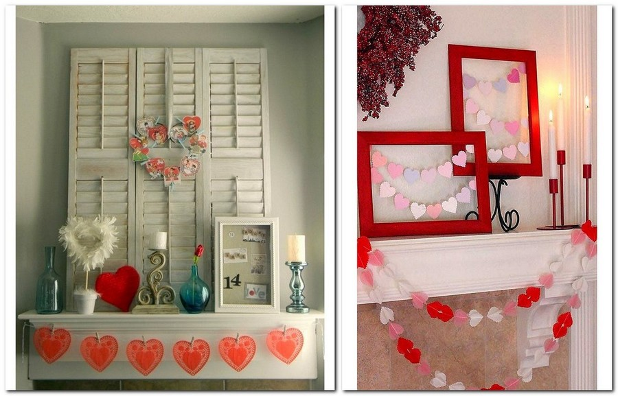 8-how-to-decorate-room-for-Valentine's-Day-decor-ideas-paper-garland-fireplace-mantel
