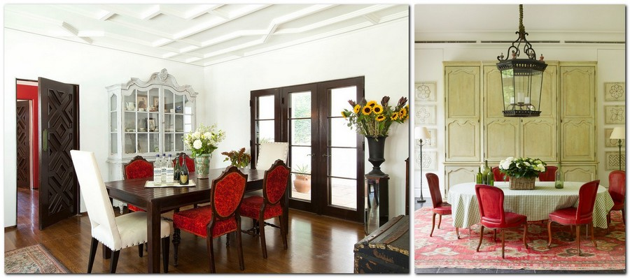 8-red-dining-chairs-accent-table-in-dining-room-interior-design-neo-classical-style
