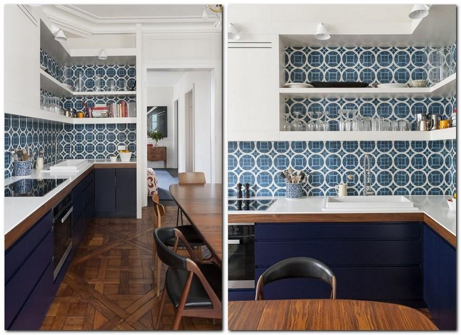 8-top-colors-2017-Pantone-lapis-blue-in-interior-design-and-white-kitchen-backsplash-tiles-base-cabinets-white-upper-cabinets