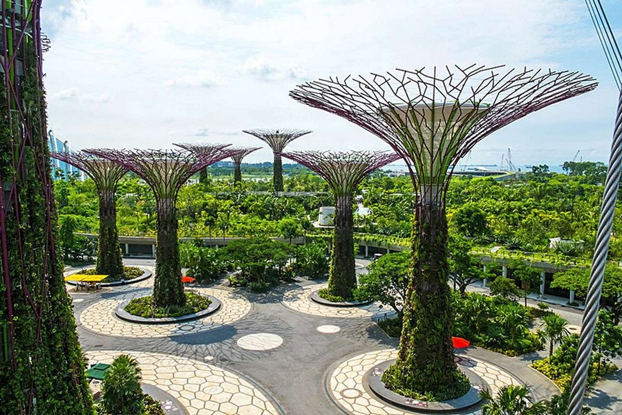 9-Gardens-by-the-bay-park-singapore-biomimicry-in-modern-architecture-futuristic-hi-tech-trees