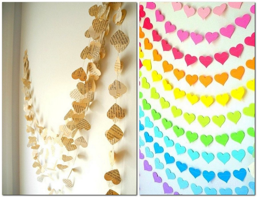 9-how-to-decorate-room-for-Valentine's-Day-decor-ideas-paper-colored-newspaper-garland