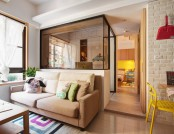 """Minuet"": Neutral Functional Small Apartment with Cheerful Notes"