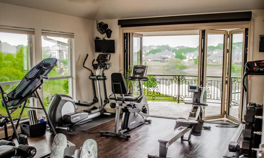 Superb 0 Home Gym Interior Design Light Neutral Colors
