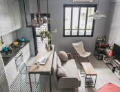 Tiny Studio Apartment with Loft Bed for a Single Woman in Taiwan