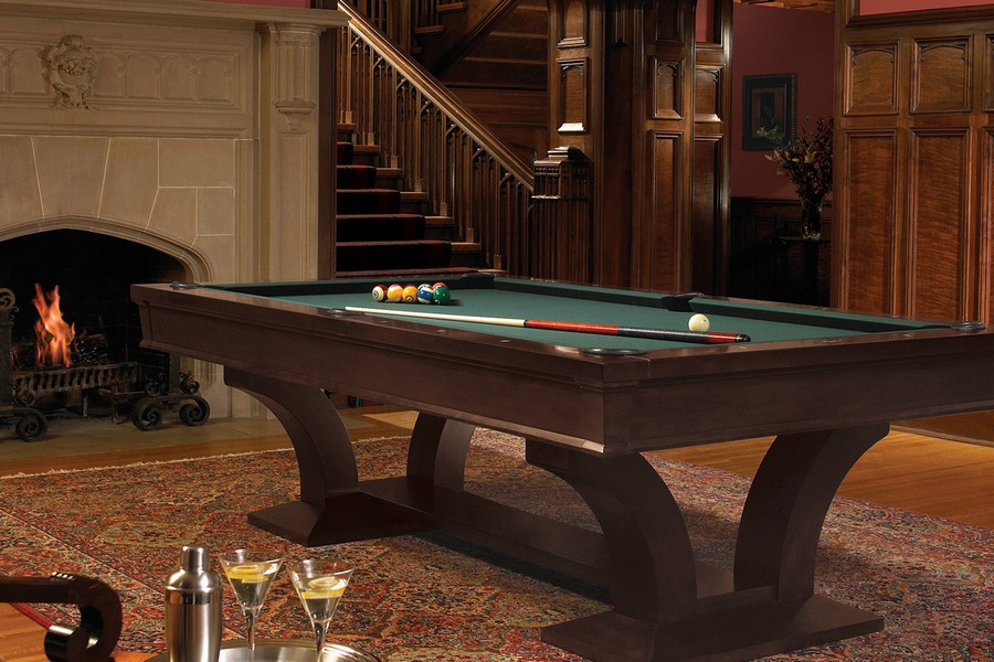 0-traditional-billiard-pool-room-interior-design-fireplace-rug-dark-wood-walls-green-ned-cloth-curved-legs-staircase-living-room