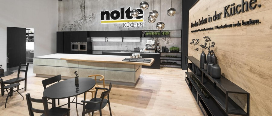 1-1-Nolte-Küchen-kitchen-set-design-at-LivingKitchen-show-in-Cologne-Germany-2017-international-exhibition-black-and-beige-minimalist-island