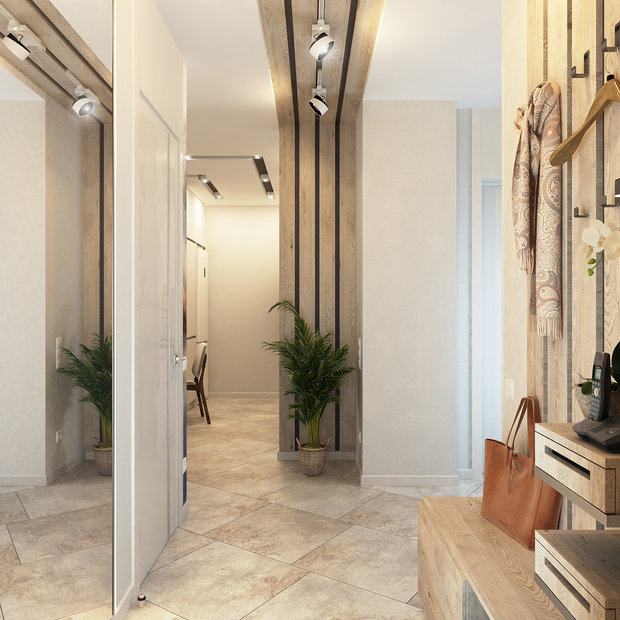 1-1-contemporary-style-interior-design-in-white-beige-gray-neutral-colors-entrance-hall-hallway-full-length-mirror-decorative-wooden-wall-ceiling-panels-bench-shoe