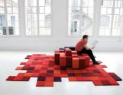 Do-Lo-Rez: Hand Tufted 3D Rug from 100% New Zealand Wool
