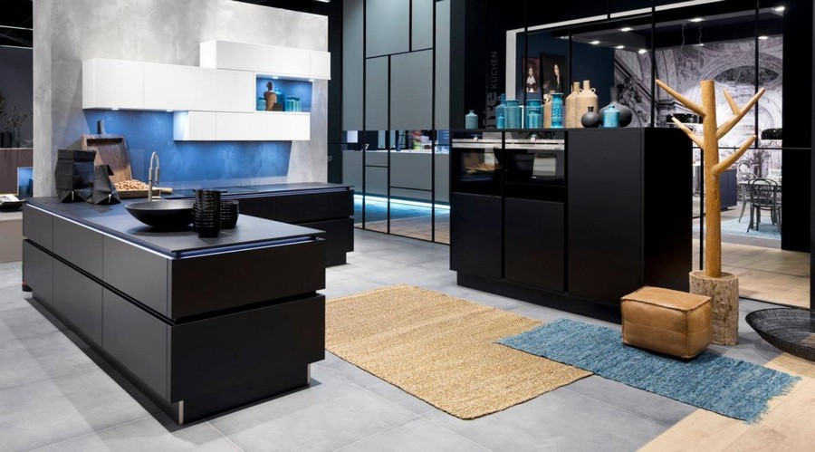 1-2-Nolte-Küchen-kitchen-set-design-at-LivingKitchen-show-in-Cologne-Germany-2017-international-exhibition-black-and-white-minimalistic-style