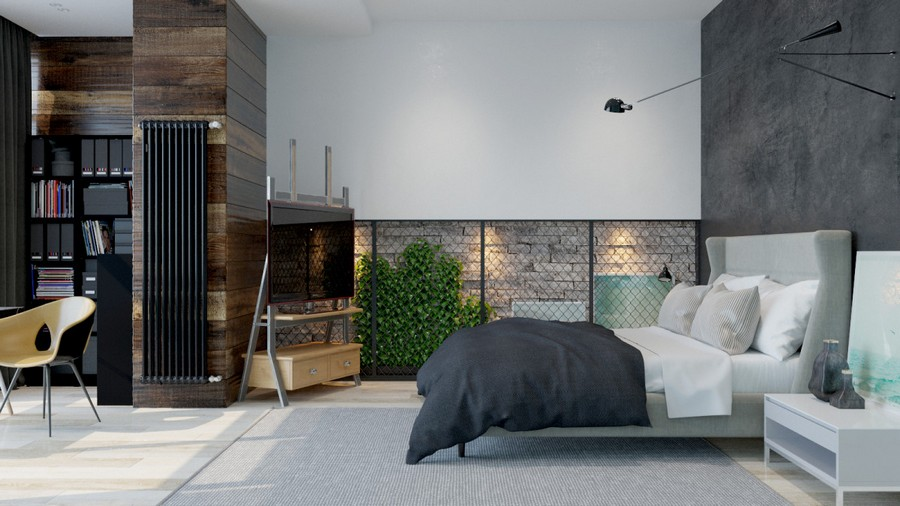 1 3 Brutal Contemporary Style Bedroom Interior Design