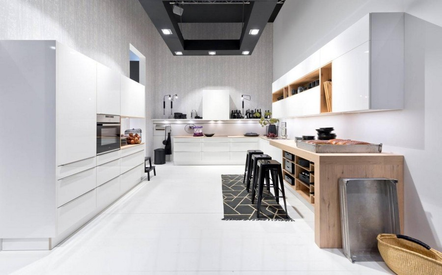 1-5-Nolte-Küchen-kitchen-set-design-at-LivingKitchen-show-in-Cologne-Germany-2017-international-exhibition-total-white-minimalistic